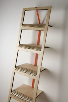 Tortilla, a flat pack shelf for tight spaces by Tomàs Schön
