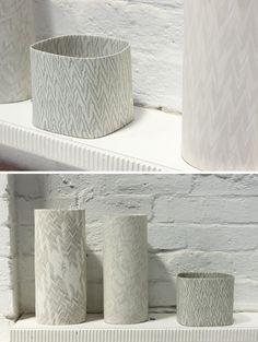 David Pottinger - artist tints the clay and builds up layers