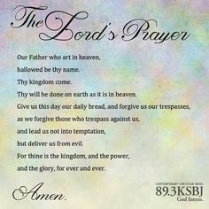Jesus' example to us of how to pray