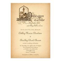 Fairytale fantasy wedding! Fairytale Medieval Castle Once Upon a Time storybook Wedding Invitation