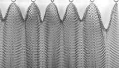 Ring Mesh Drapes Architectural Drapery - Whiting & Davis - info on how to design and order including properties of various levels of fullness, methods of hanging, etc.
