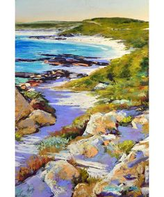 Shirley Fisher Artist Redgate Back Beach landscape painting beach coast seascape nature margaret river blue water scenery