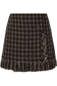 Sonia Rykiel|Embellished metallic tweed mini skirt|NET-A-PORTER.COM