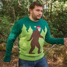 Need! Bigfoot Ugly Christmas sweater