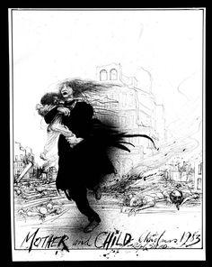 Ralph Steadman Mother & Child Beirut, Iraq