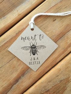 Meant to Bee Wedding Favor Tags Honey favors tags Meant to Bee Wedding Favor Tags Honey Honey Wedding Favors, Creative Wedding Favors, Inexpensive Wedding Favors, Elegant Wedding Favors, Edible Wedding Favors, Wedding Favors For Guests, Wedding Favor Tags, Bridal Shower Favors, Bridal Showers