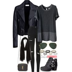 Untitled #1925 by dceee on Polyvore featuring Chanel, Balenciaga, Topshop, H&M, Yves Saint Laurent, Kardashian Kollection and Ray-Ban