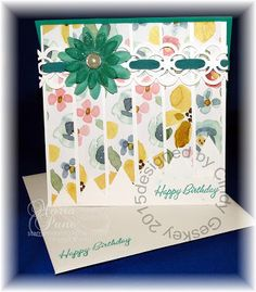 Stampin and Scrappin With Ri Ri: CINDY GESKEY'S HAPPY BIRTHDAY CARD