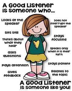 Listening Skills to Develop effective and Active listening Social Skills Lessons, Social Skills Activities, Coping Skills, Life Skills, Learning Activities, Character Education Lessons, Good Listening Skills, Active Listening, Listening Rules