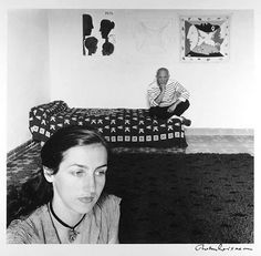 Pablo Picasso with Francoise Gilot by Robert Doisneau