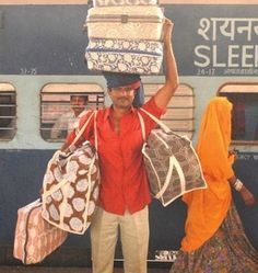 India - when your wife makes you carry all the luggage to the train station.....