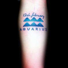 Aquarius Tattoos for Men - Ideas and Inspiration for Guys