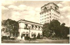 Bela Lugosi lived at the Hollywood Athletic Club off and on during the late and early Athletic Clubs, Old Postcards, Historical Sites, In Hollywood, Palm Trees, City Photo, Travel Destinations, Street View, California