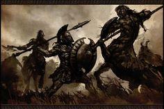 War by bitrix-studio on DeviantArt Dark Fantasy, Fantasy Art, Spartan Tattoo, Warriors Wallpaper, Roman Warriors, Greek Warrior, Spartan Warrior, Warrior Tattoos, Armadura Medieval