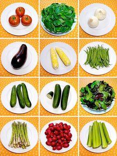 Jak vypadá 100 kalorií v zelenině?  100 kcal = 420 kJ. Udělejte si obrázek o tom jak vlastně vypadá 100 kalorií na talíři.