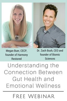 Discover the connection between your food, your gut, your emotions, and your overall health.  If you have been searching for answers to your physical, emotional, and mental health challenges, you will find hope and answers in this webinar.