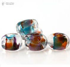 $4.75 Glass Beads KARMA Organic Seeds Lampwork Art for Jewelry Design