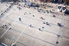 Paris' roof - Tilt-shift effect