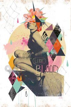 Nicolas Blind, Love like blood, Photo et numérique, 40x60 cm, 2013 ©