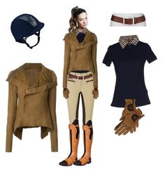 """""""Autumn lesson, then lunch with barn friends"""" by stylemyride on Polyvore featuring Titika, Daks, Rick Owens, Roeckl Sports and Neiman Marcus"""