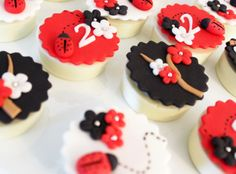 Lady Bug Inspired Party | Ladybug Chocolate Covered oreos