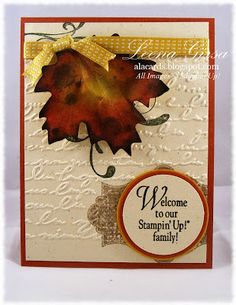A La Cards: Autumn-themed card featuring the Everything Eleanor stamp set from Stampin' Up!