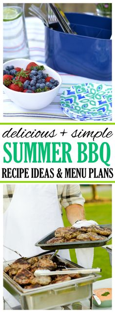 This simple summer BBQ guide contains BBQ recipes and food ideas, a printable menu planning guide, and lots of tips to help you plan a delicious and stress-free BBQ for family and friends.