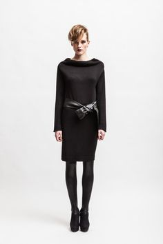 A perfect simple sweater dress for fall.