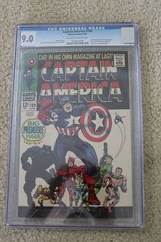 Captain America 100 CGC 9.0 Beautiful Bright Colors Awesome Eye Appeal LOOK!