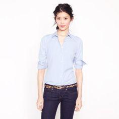 Stretch perfect shirt in classic stripe