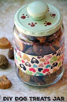 Easy DIY Dog Treats Jar Craft