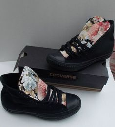 Spring Floral Converse Shoes by DeBowShop on Etsy, $85.00