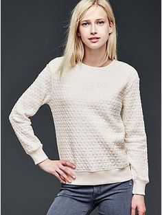 Jacquard quilted sweatshirt - love the texture