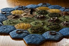 Custom Settlers of Catan board -- WHAT!? Amazing!!!