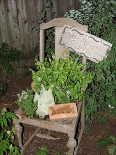 Idea for an herb garden chair