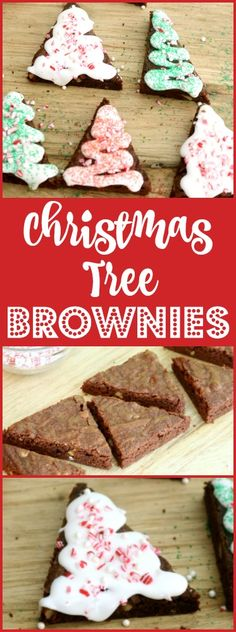 Christmas Tree Brownies - A fun project for kids. My basic brownie mix makes a delicious fudgy brownie we cut and decorate like Christmas Trees.