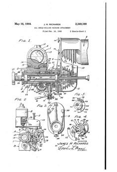 Patent US2349199 - All-angle milling machine attachment - Google Patents
