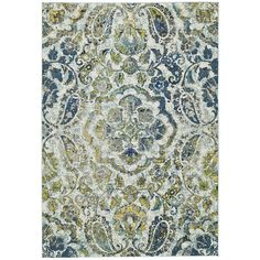 Grand Bazaar Azure Omari Power-loomed Rug (8' x 11') | Overstock.com Shopping - The Best Deals on 7x9 - 10x14 Rugs