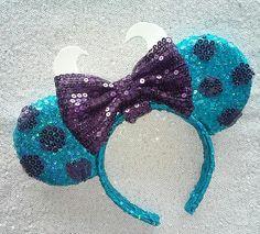 Monsters Inc Sulley Minnie Mouse ears Disney Diy, Disney Bows, Disney Crafts, Cute Disney, Disney Babies, Disney Outfits, Disney Fashion, Disney Stuff, Disney Ears Headband