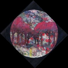 """Morning Tide"" by Sharon Giles acrylic monoprint / painting with acrylic and wc crayon - cut in a circle and placed a square canvas so that it can be hung diagonally. Square Canvas, Prints, Painting, Art, Art Background, Painting Art, Kunst, Gcse Art, Paintings"