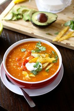 Vegetarian Tortilla Soup | The Curvy Carrot Vegetarian Tortilla Soup | Healthy and Indulgent Meals Dangling in Front of You