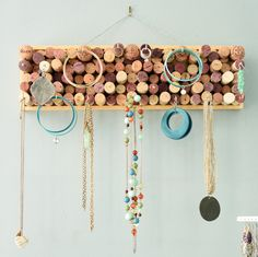 Jewelry Organizer Key Holder Wine Cork Jewelry Organizer