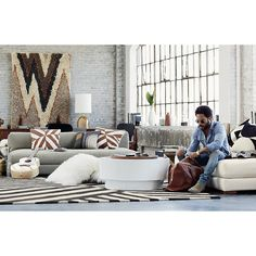 Shop changes rug 8'x10'.   The Changes Rug was designed exclusively for CB2 in collaboration with Kravitz Design by Lenny Kravitz.
