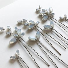 77 отметок «Нравится», 3 комментариев — Miss Clemmie Bridal (@miss_clemmie_bridalaccessories) в Instagram: «ELLIS HAIRPINS | just one more of these hairpins in Opal ... perfect!»