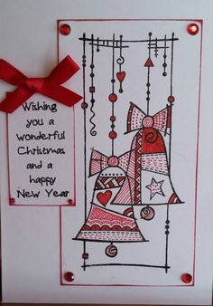 Scrappyjen: Christmas Cards Using Woodware Clear Magic Stamps Christmas Doodles, Christmas Drawing, Diy Christmas Cards, Christmas Art, Handmade Christmas, Holiday Cards, Christmas Inspiration, Cardmaking, Christmas Crafts