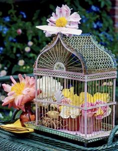 Bird cage center piece