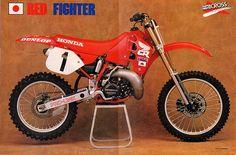 Honda Dirt Bike, Honda Motorcycles, Vintage Motorcycles, Yamaha Motocross, Motocross Racer, Mx Bikes, Cool Bikes, Vintage Motocross, Vintage Racing