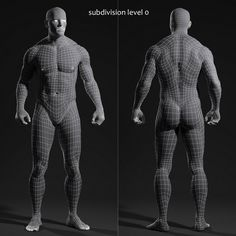 male body for animation
