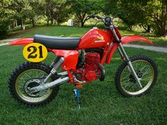 Brad Lackey Honda RC 450 cc. 1978