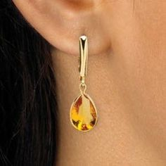 RepliKate of KIKI citrine drop earrings $29.99